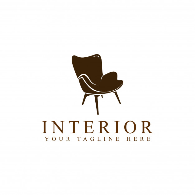 Chair furniture logo Vector.