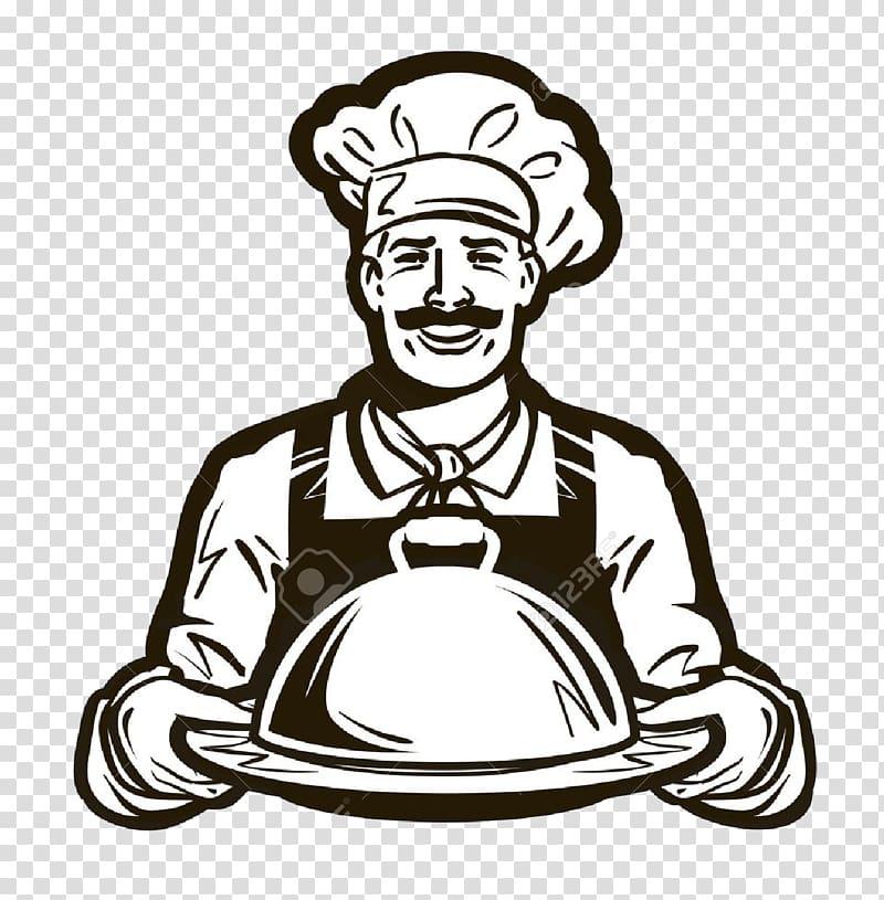 Chef sketch art, Cafe Catering Logo , chef hat transparent.