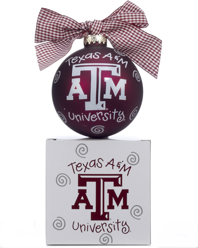 Texas A&M University Logo Christmas Ornament.