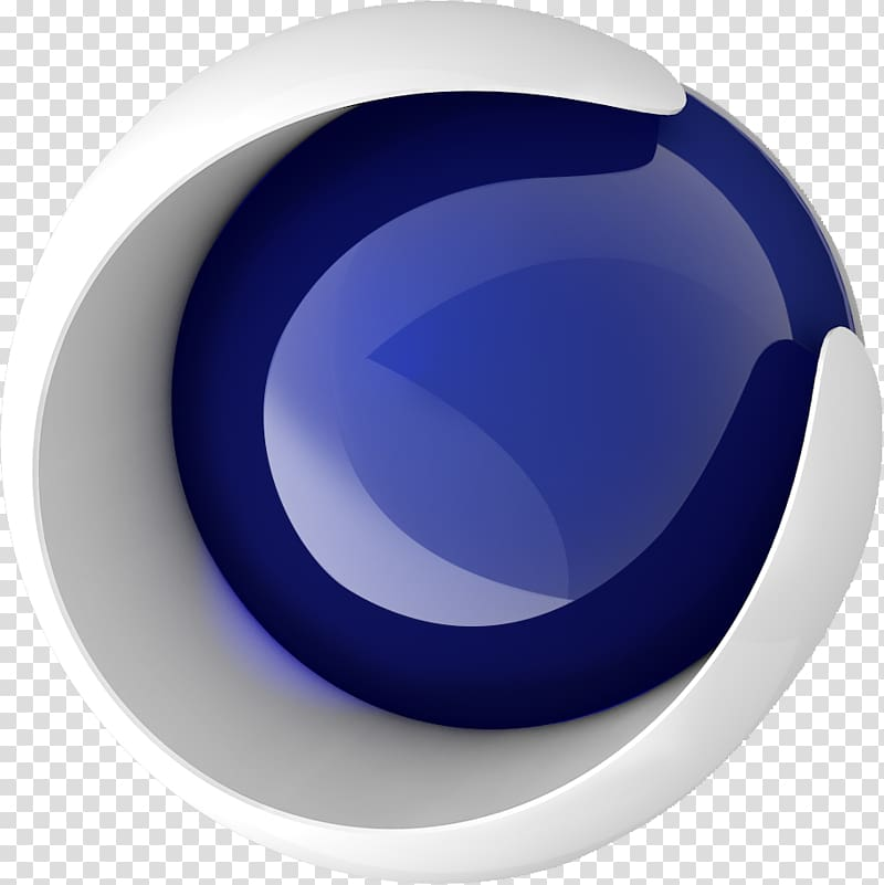 Round white and blue illustration, Cinema 4D 3D computer.
