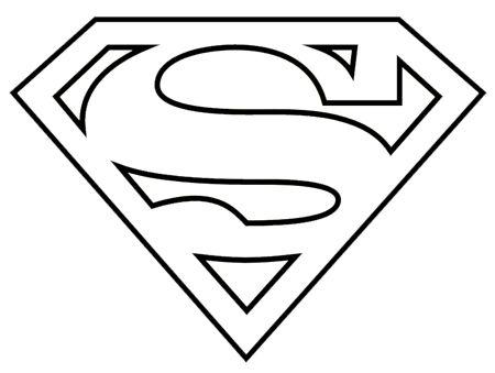 Superman logo clipart black and white.