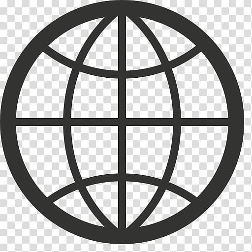 Black globe logo, Computer Icons Web browser Desktop.