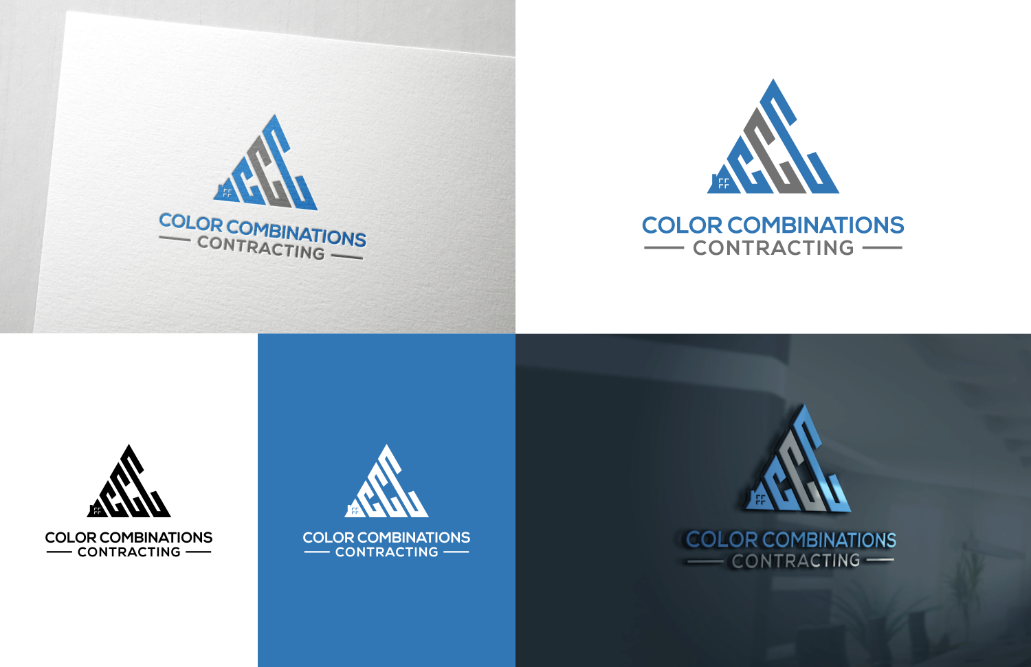Bold, Serious, Construction Company Logo Design for Color.