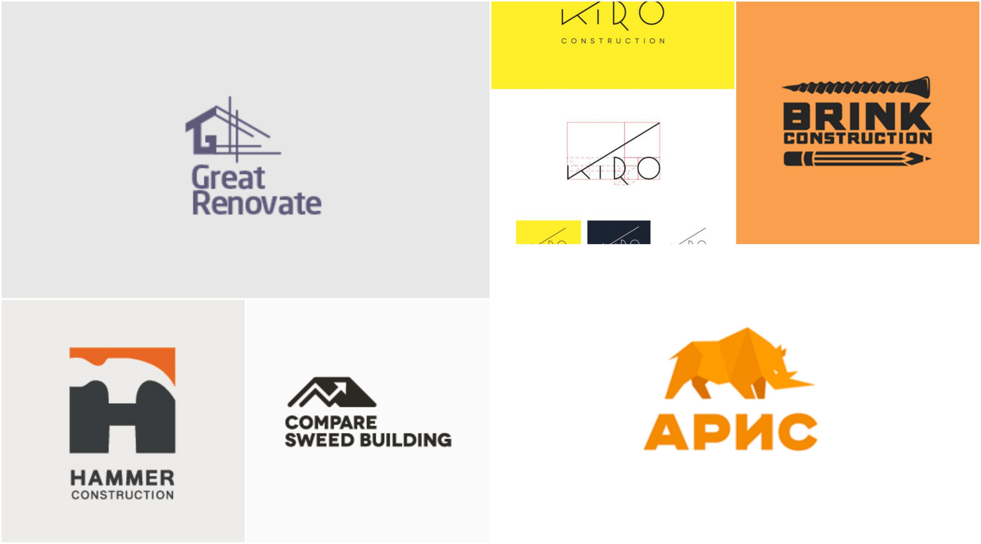 45 Original Construction Logo Ideas.