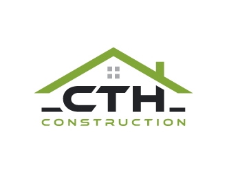 CTH CONSTRUCTIONS logo design.