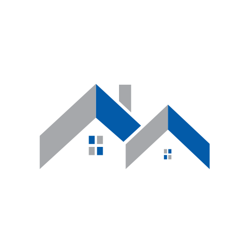 Blue Roofs Construction Logo.