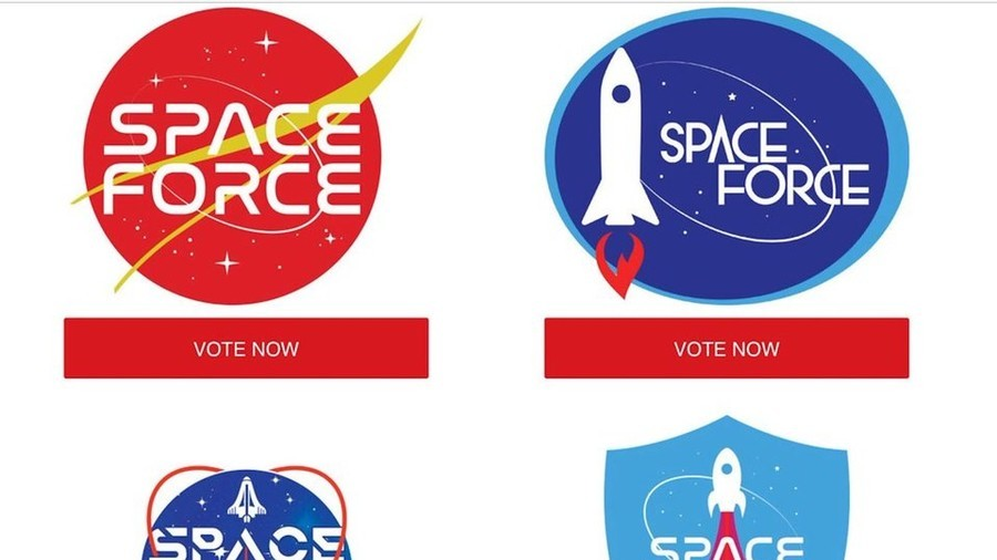 The Farce Awakens? Trump\'s Space Force logo contest triggers.