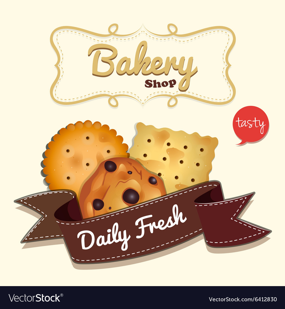 Logo design with cookies and text.