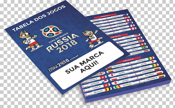 2018 FIFA World Cup Russia Paper Printing Flyer, Copa 2018.