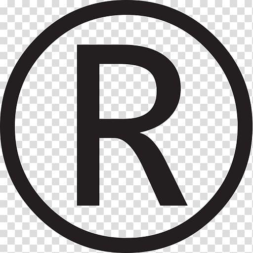Letter R logo, Registered trademark symbol Copyright symbol.