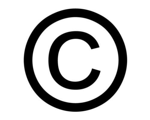 copy right logo.