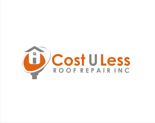 Bold, Playful, Business Logo Design for Cost U Less Roof.