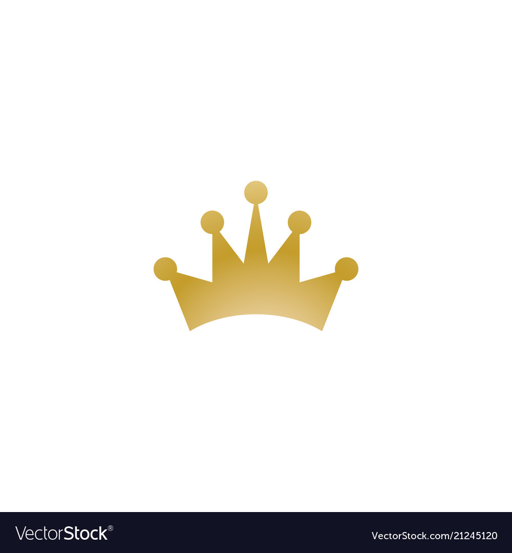 Gold crown logo icon element.