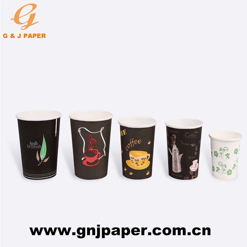[Hot Item] Good Quality Compostable Disposable Logo Printed Paper Coffee  Cups.
