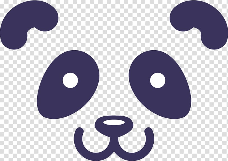 Panda , Giant panda Logo Illustration, creative cute panda.