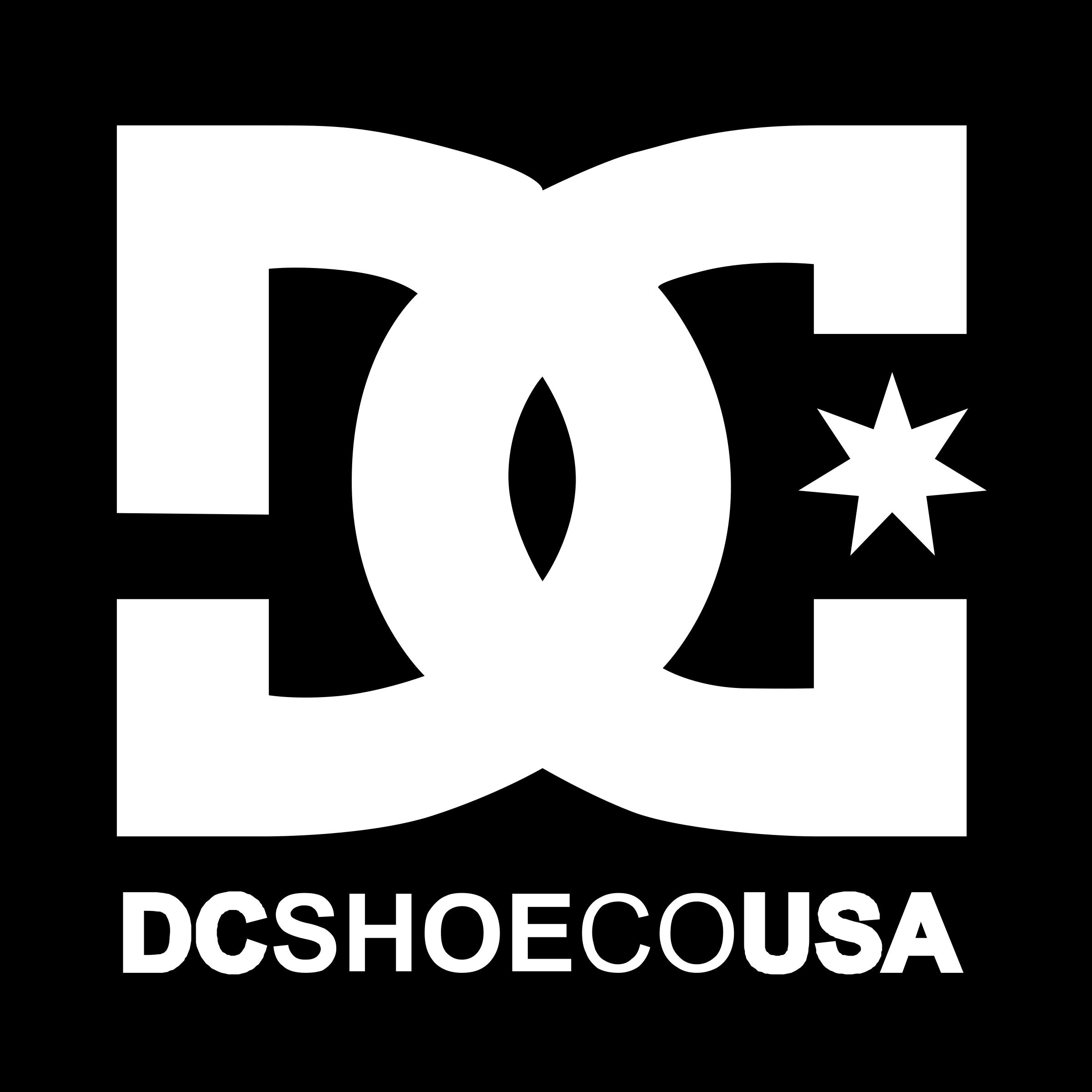 DC Shoe Co USA Logo PNG Transparent & SVG Vector.