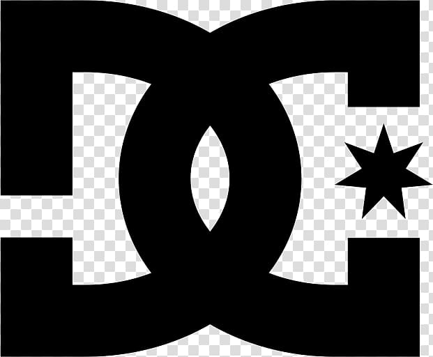 DC Shoes Logo transparent background PNG clipart.