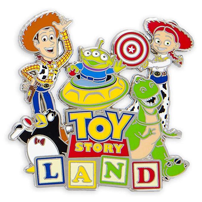 Disney Parks Toy Story Land Logo Pin.