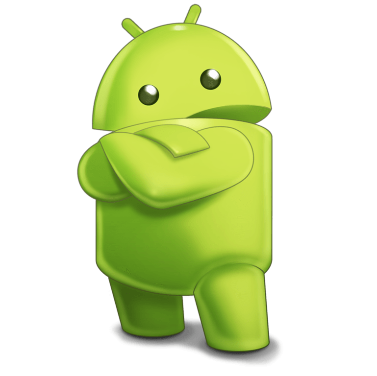 Android Robot Sideview Character transparent PNG.
