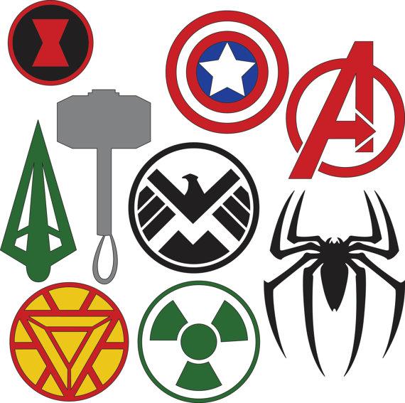 Marvel Superhero Logos SVG & DXF files by HatchWork on Etsy.