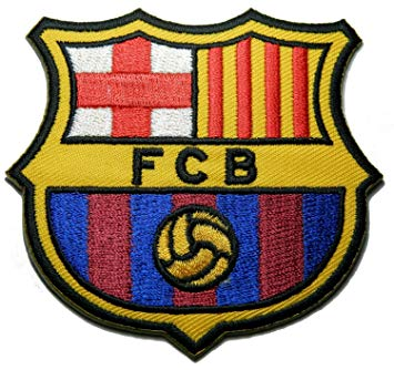 1 X Fc Barcelona Futbol Football Soccer Iron.