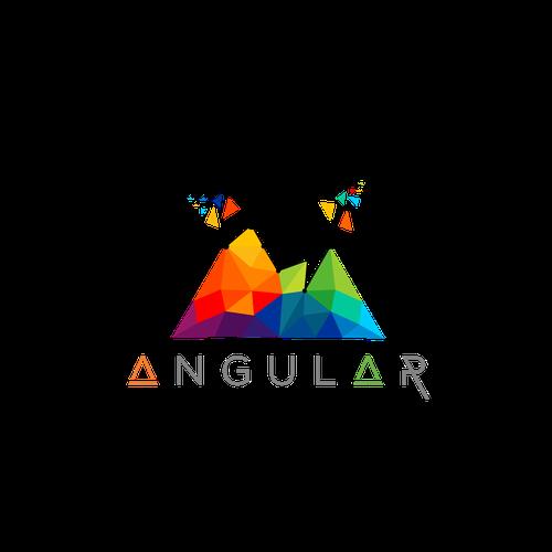 Logo Moderno para Empresa de TI: ANGULAR Transformación.