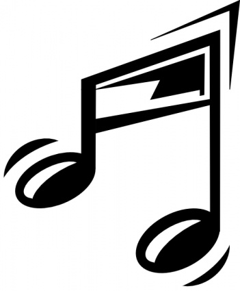 Funny Music Note clip art Clipart Graphic.