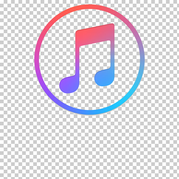 Round note logo music PNG clipart.