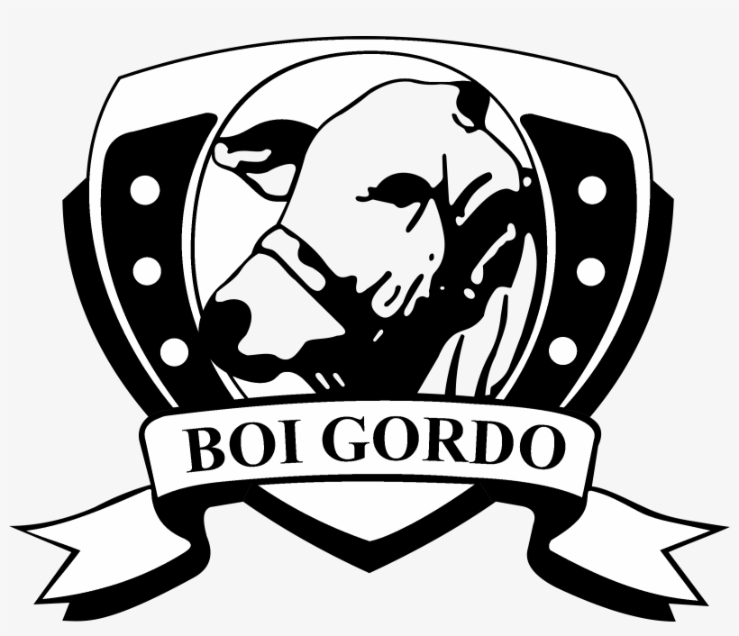 Boi Gordo Logo Black And White.