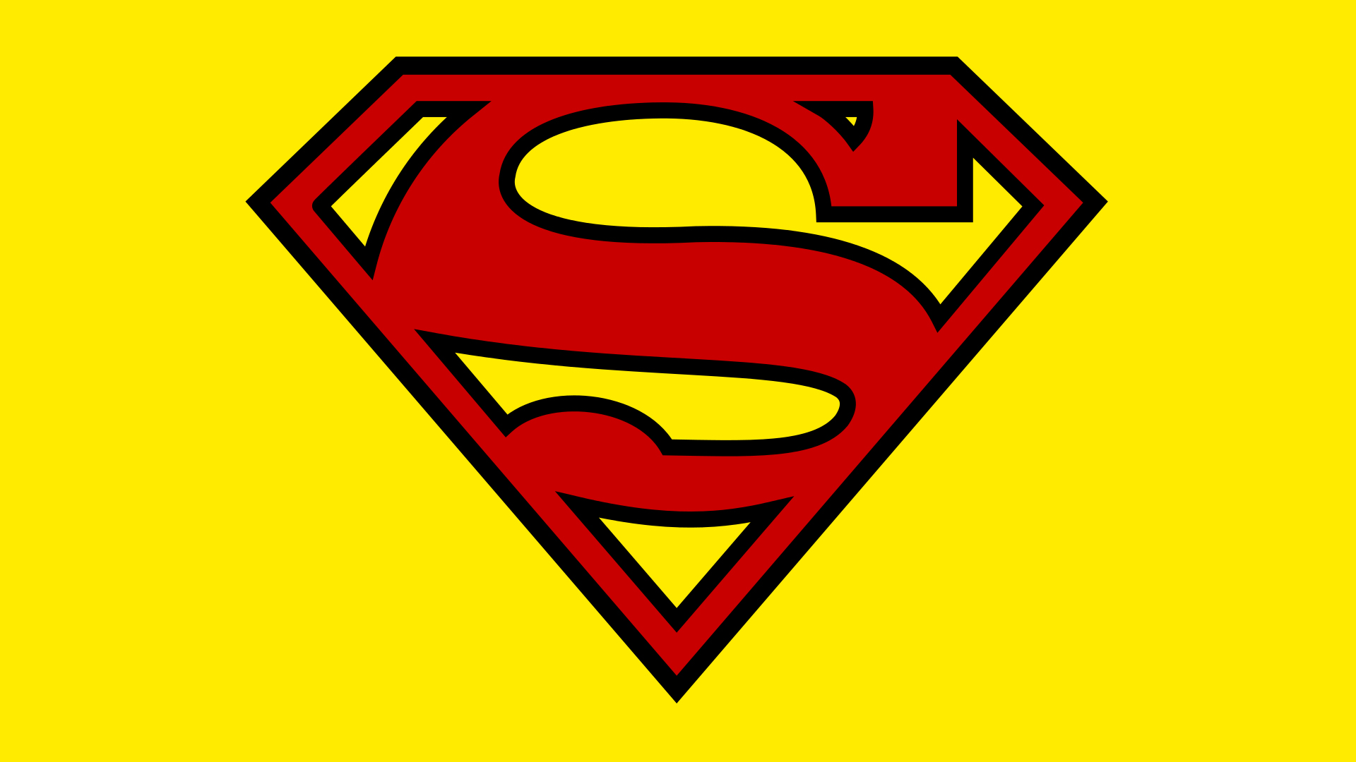 Superman logo.