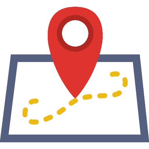 Mapa de ubicación icono gratis in 2019.