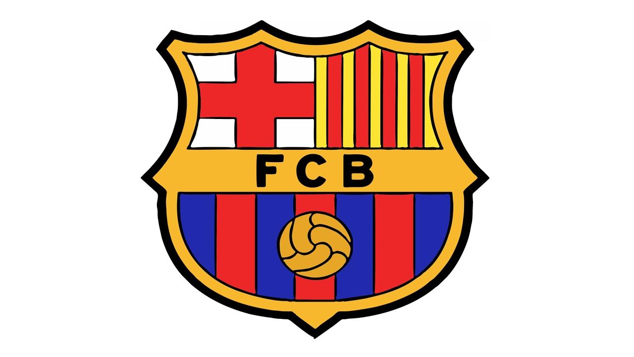 Cómo dibujar el logotipo de FC Barcelona (FCB).
