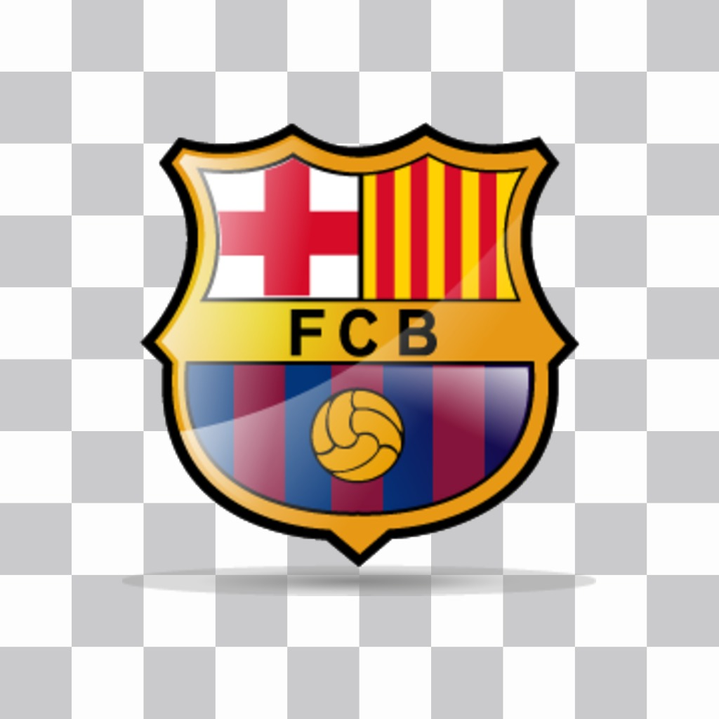 FC Barcelona shield to put in your photo.