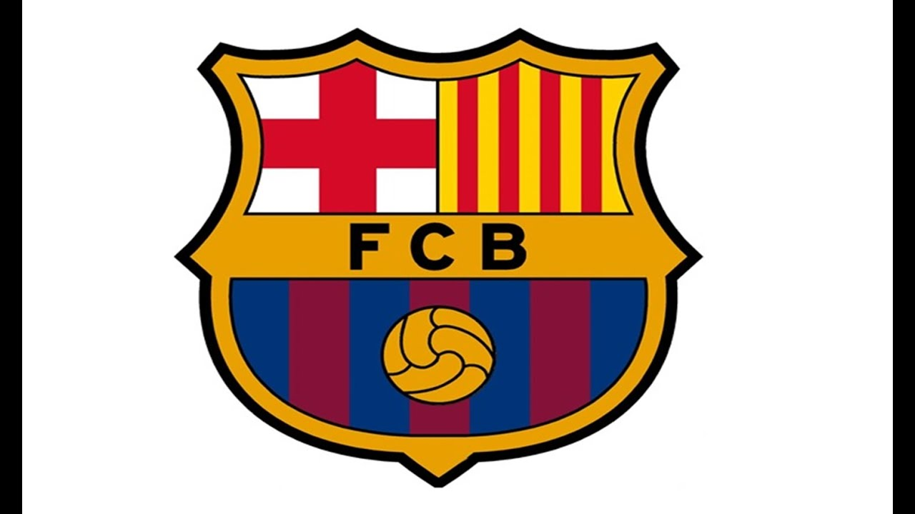How to Draw the FC Barcelona Logo (FCB).