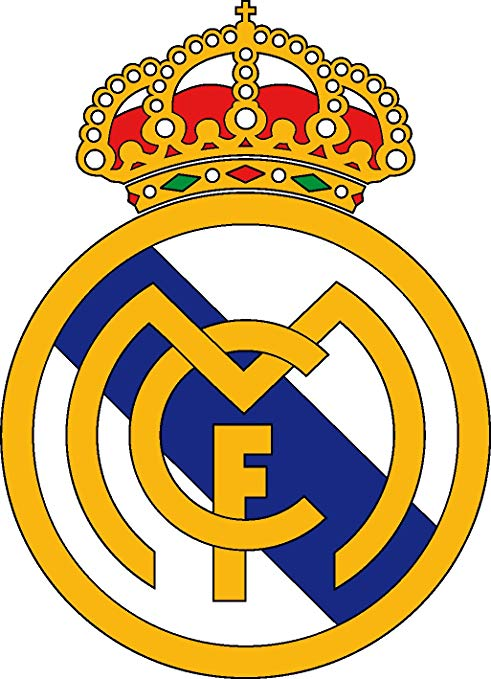 Wall Tattoo Sticker Football Real Madrid Logo 10 cm: Amazon.