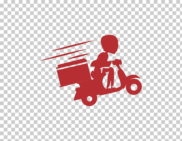 Kurir Sae Brand Service Logo, home delivery, person riding.