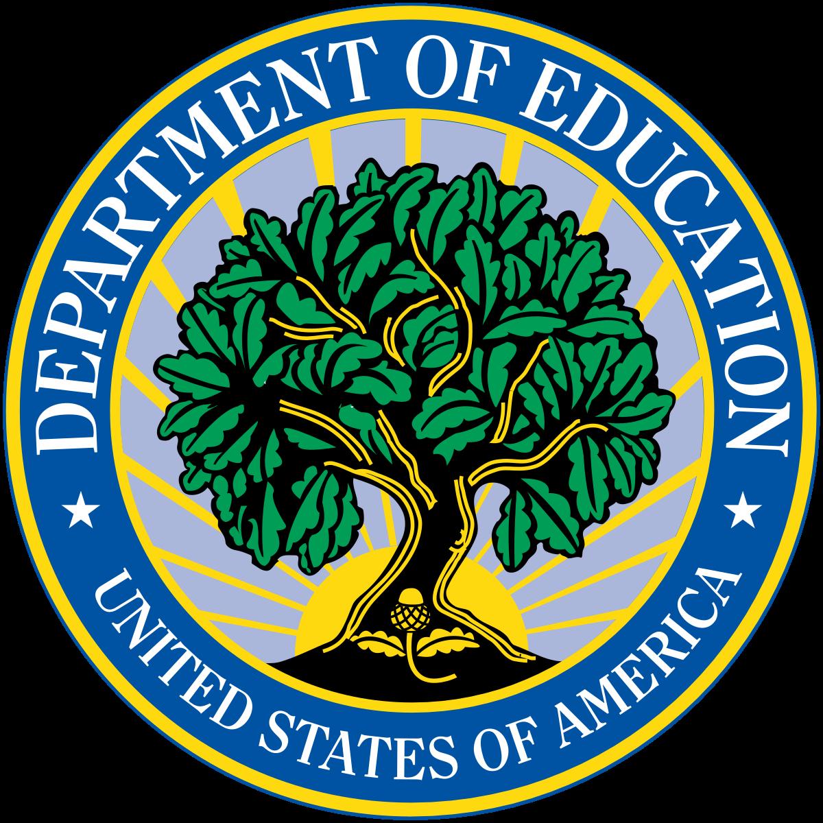 Departamento de Educación de los Estados Unidos.