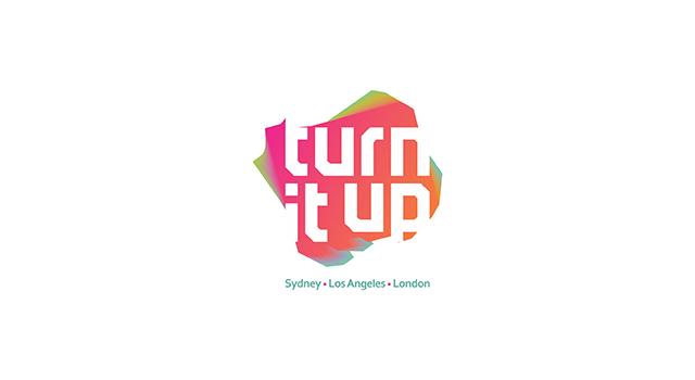 Turn It Up logo design.