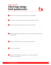 This logo design brief questionnaire can be used to help.