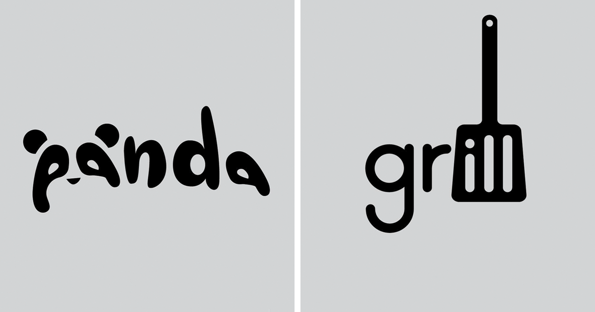 Designer Challenges Himself To Create Simple Logos For Words.