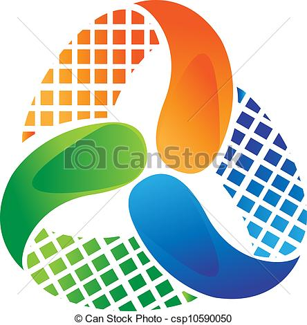 Abstract logo design vector stock.