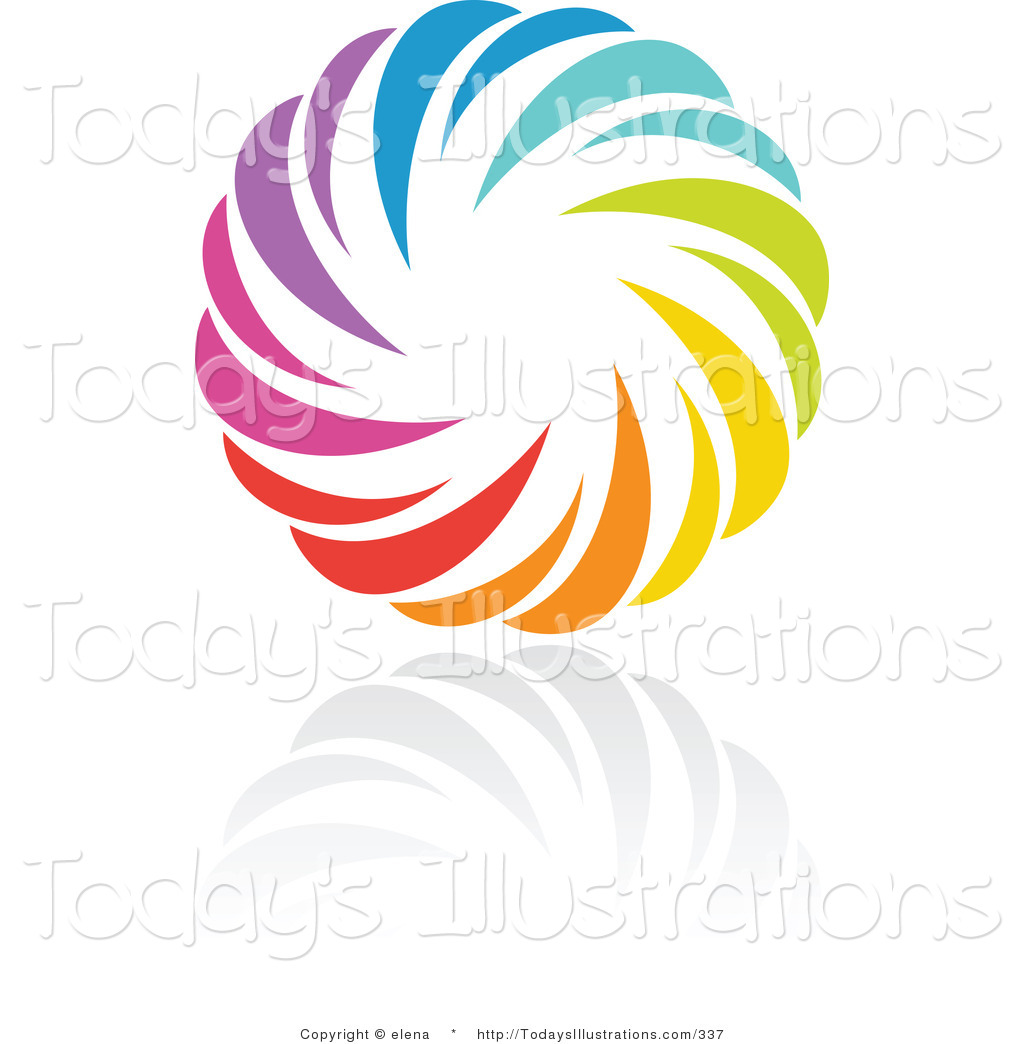 Clipart of a Rainbow Circle Logo Design or App Icon with a.