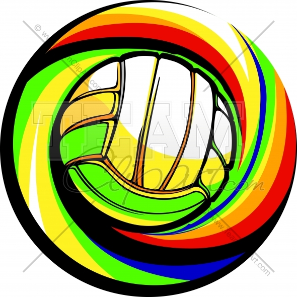 Volleyball Logo Clipart Image. Easy to Edit Vector Format..