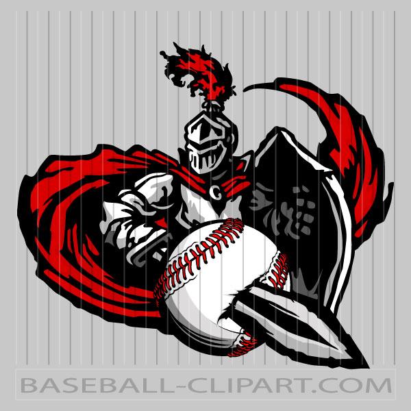 Baseball Logo Knights Image. Easy to Edit Vector Format..
