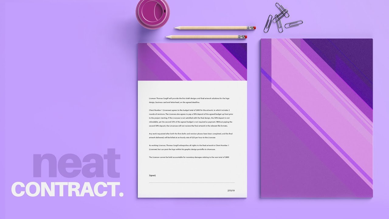 How To Design A Stunning & Professional Contract (FREE Download).