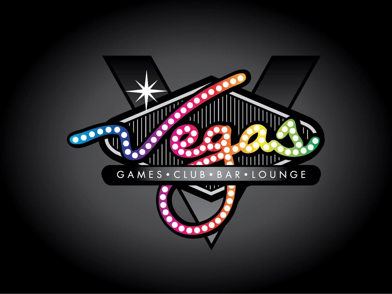 Vegas Games Club Bar Lounge Logo Design by Jax Max.