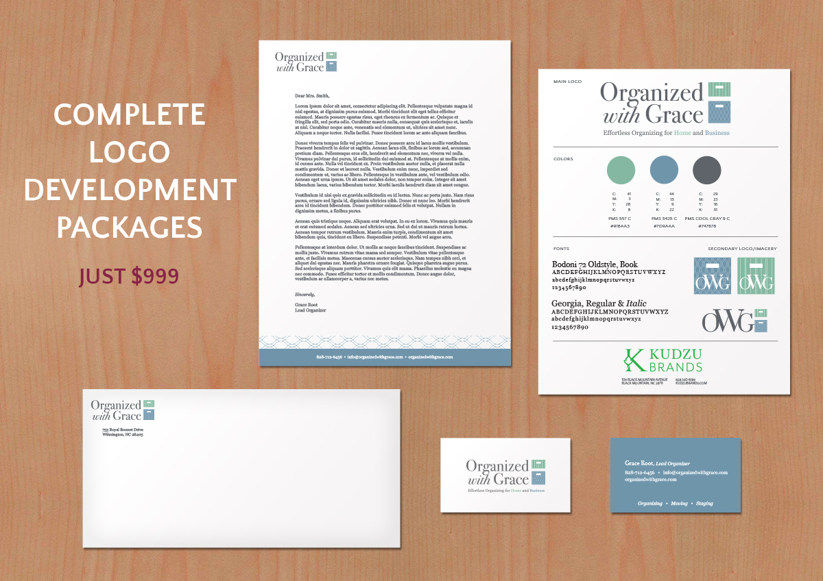 Logo Design Packages and Brand Marks for just $999Asheville.