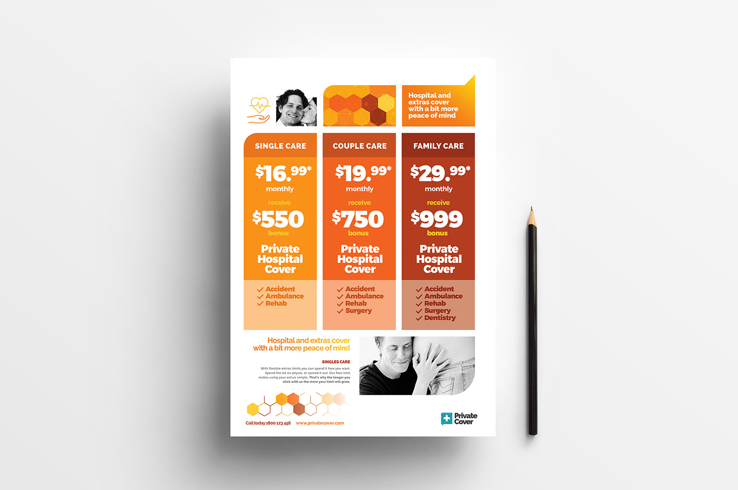 A4 Price Sheet Poster Template in PSD, Ai & Vector.