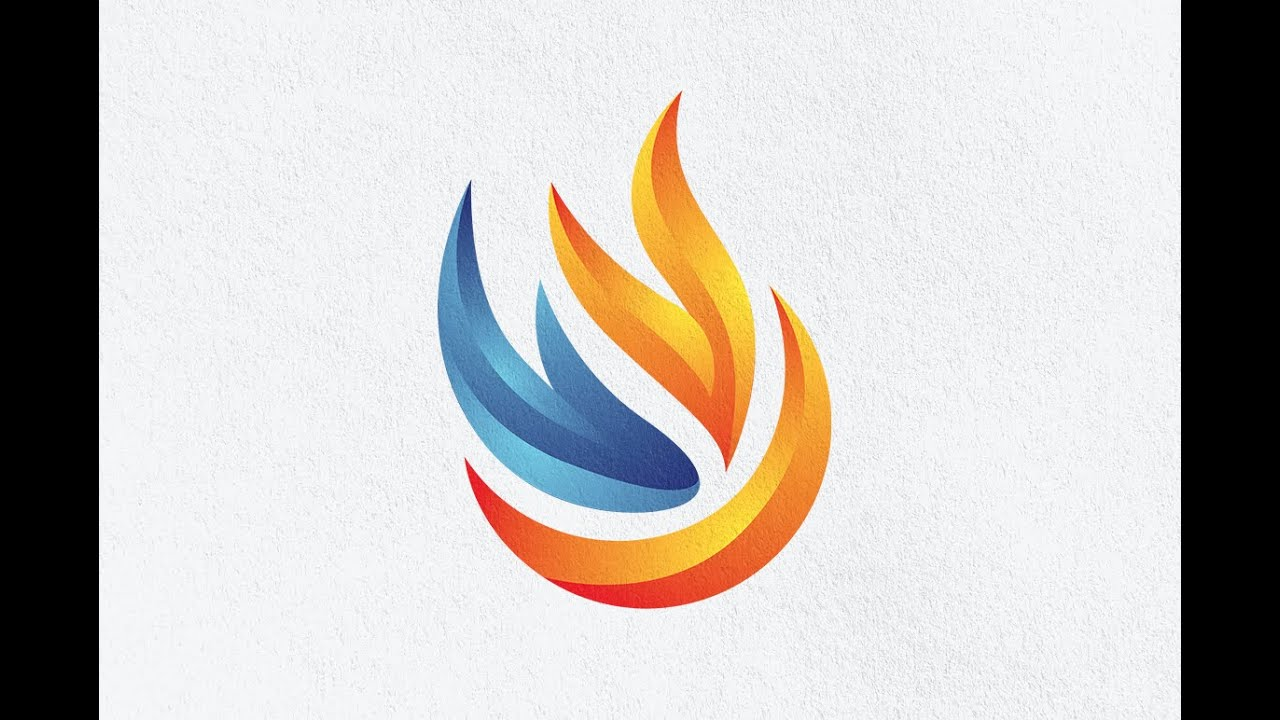 The Best Logo Design Tutorial for Beginners How to Create a 3D Flame Fire  Logo Design.