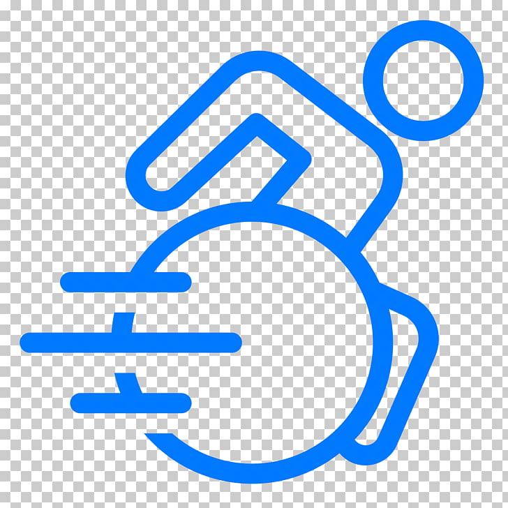 Iconos de computadora discapacidad silla de ruedas deporte.
